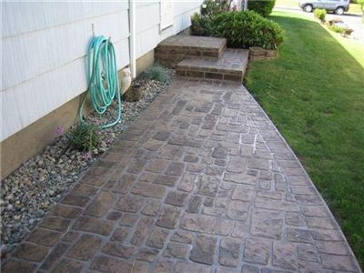Perfect Stenciled Concrete Creates A Realistic Grout Line That Looks More Like Real  Stone, Tile, Or Brick. It Can Be Very Convincing When Done Correctly.