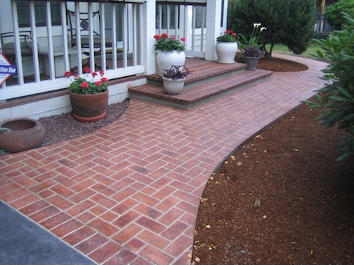 Genial Stenciled Concrete Creates A Realistic Grout Line That Looks More Like Real  Stone, Tile, Or Brick. It Can Be Very Convincing When Done Correctly.